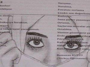 Şanlıurfa'da cinsiyetçi şiir yayımlayan öğretmene tepki