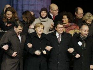 Alman liderler hoşgörü mitinginde