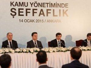 Başbakan Davutoğlu, Kamuda Şeffalık Paketini açıkladı