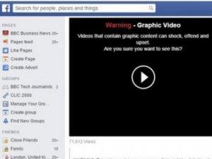 Facebook'ta şiddet içerikli video ve fotoğraflara uyarı