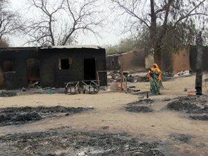 Boko Haram'ın yaptığı katliam uydudan görüntülendi