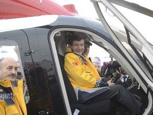 Gece uçabilen ambulans helikopter görevde