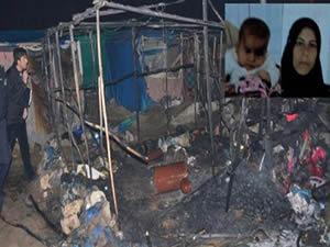 Kilis'te Suriyelilerin kaldığı çadır yandı