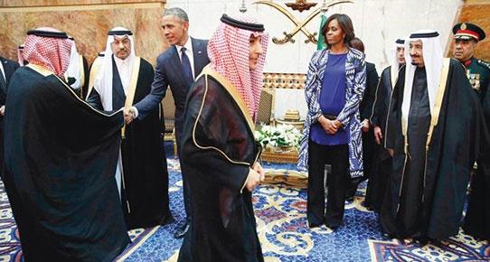 First Lady Obama Arabistan'ı karıştırdı