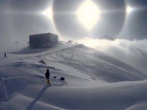 Ender rastlanan 'yalancı güneş' böyle görüntülendi