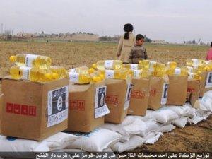 IŞİD, BM'den gelen yardımları kendi logosuyla dağıtıyor
