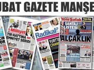 12 Şubat Gazete Manşetleri