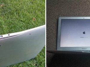 Uçaktan atsanız bile bükülmeyen laptop!