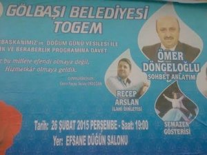 AKP'li belediyeden Erdoğan'a 'Gül' sembollü doğum günü kutlaması
