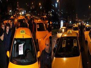 Taksicilerden Özgecan eylemi