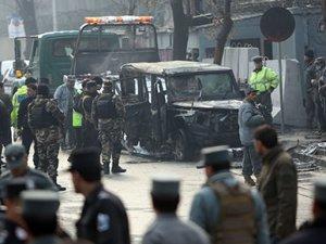 Afganistan'ın başkenti Kabil'de Türk Büyükelçiliği önündeki araca bombalı saldırı