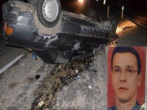 Araç domuza çarptı, sürücüsü öldü