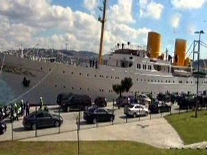 Cumhurbaşkanı Erdoğan Savarona yatı ile denize açıldı