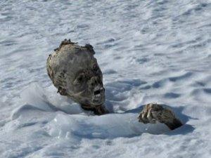 Buzlar eridi 55 yıllık cesetler ortaya çıktı