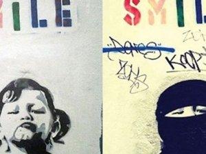 Banksy'nin kızına çarşaf giydirdiler