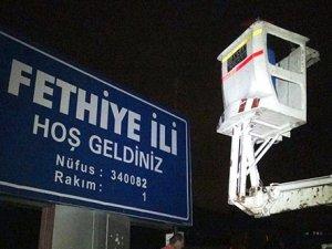 Fethiye'ye il müdahalesi