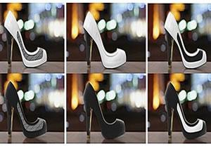 Renk değiştiren topuklu ayakkabılar geliyor