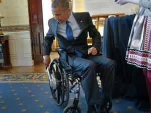 ABD Başkanı Barack Obama tekerlekli sandalyede