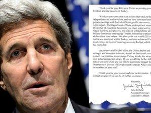 Kerry'den 88 Kongre üyesinin Türkiye mektubuna cevap: Aynı kaygıları taşıyoruz