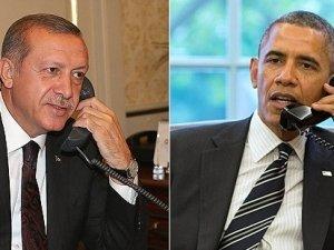 Obama ve Erdoğan telefonla görüştü