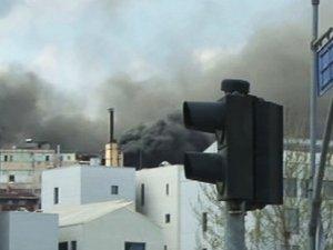 Kağıthane'de sucuk fabrikasında yangın çıktı
