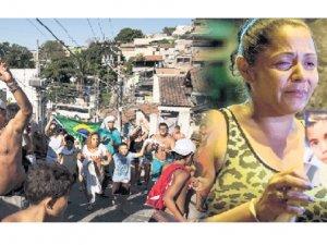 Brezilya'da 10 yaşında çocuğun katline isyan