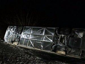 Eskişehir'de otobüs devrildi: 13 yaralı