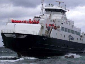 Karaya oturan feribottaki yolcular tahliye edildi