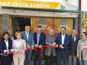 Muğla Sıtkı Koçman Üniversitesi Rektörü , AKP seçim ofisini açtı
