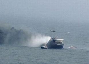 Palma - Valencia arasında sefer yapan M/F SORRENTO'da yangın çıktı