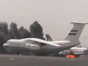 Suudi Arabistan, İran uçağı inmesin diye havalimanını bombaladı