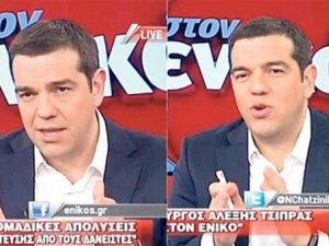 Aleksis Çipras, reklam arasında kalem değiştirdi