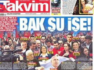 Takvim gazetesinden 1 Mayıs fotoşopu