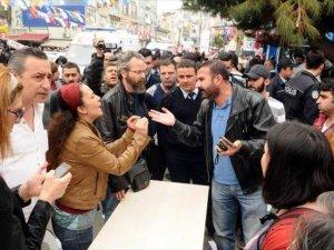 AKP standında gerginlik: 4 yaralı
