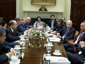 Barzani'ye görülmemiş protokol: Obama ve Biden'la aynı anda görüştü