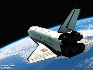 Atmosferde yanan bir garip Uzay Aracı
