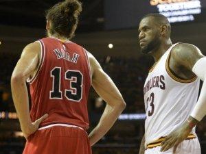 LeBron ve Noah birbirine girdi!