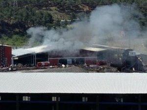 Soma'da İmbat madeni çevresinde yangın!