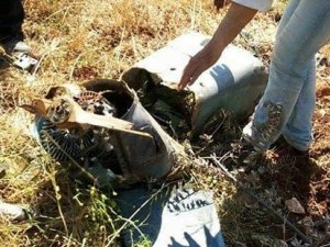 Suriye Türkiye'nin düşürdüğü hava aracının fotoğraflarını paylaştı!