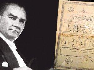 Atatürk'ün ilk nüfus kayıt belgesi ortaya çıktı