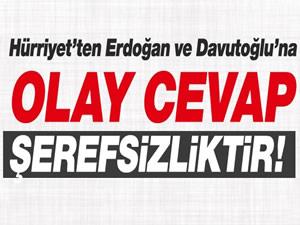 Doğan Grubu, Erdoğan ve Davutoğlu'na çok sert cevap verdi