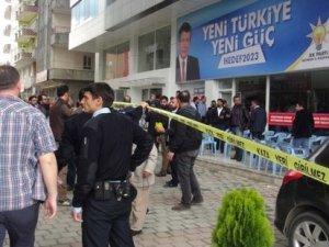 AKP'nin Mardim bürosuna ses bombalı saldırı