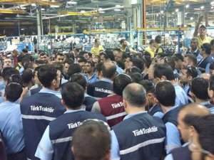 Türk Traktör işçileri de üretimi durdurdu