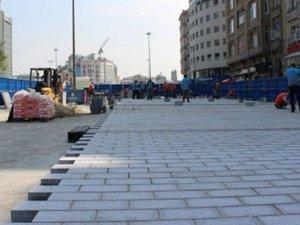 Taksim Meydanı'nda yeni çalışma başladı