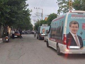 Adıyaman'da AKP minibüsüne silahlı saldırı