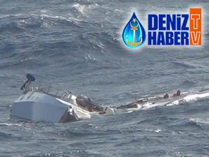 Turkon Holding'e ait M/V CAFER DEDE, Atlantik'te batan teknedeki 2 denizciyi kurtardı