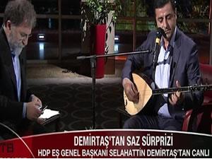 Cumhurbaşkanı Erdoğan'dan Selahattin Demirtaş'a saz göndermesi