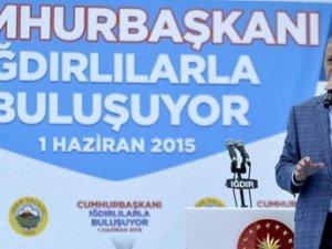 Cumhurbaşkanı Erdoğan Iğdır'da konuştu