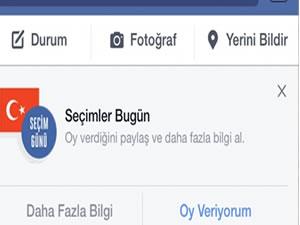 Facebook'tan seçimlere özel oy butonu