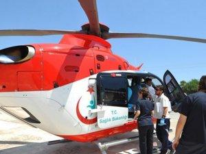 Prematüre bebek ambulans helikopterle sevk edildi
